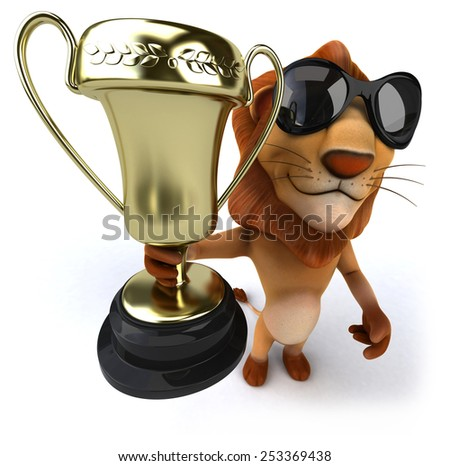 Fun lion - stock photo