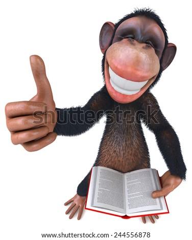 Fun monkey - stock photo