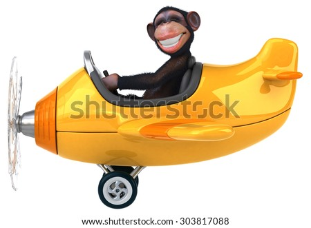 Fun monkey - stock photo