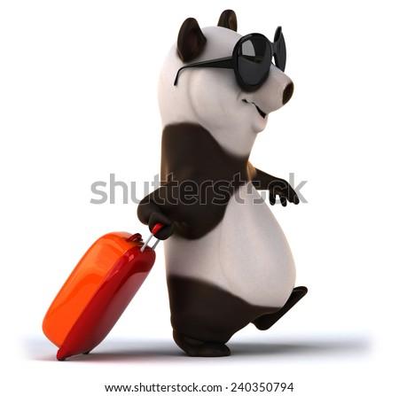 Fun panda - stock photo