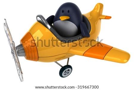 Fun penguin - stock photo