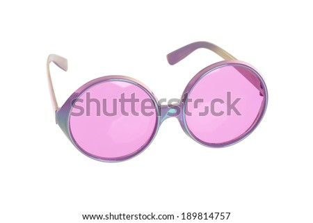 fun purple glasses on white