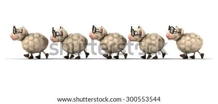 Fun sheep - stock photo