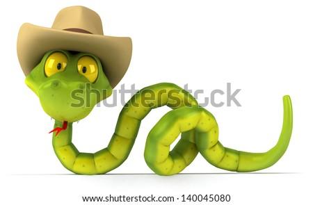 Fun snake - stock photo