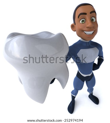 Fun superhero - stock photo
