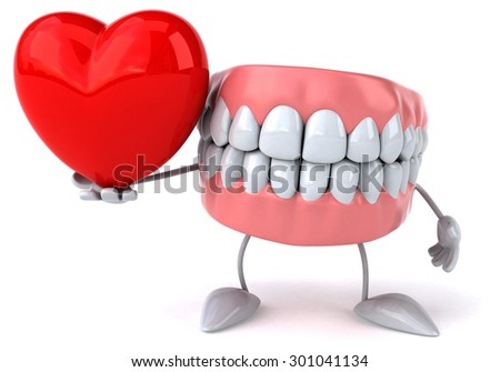 Fun teeth - stock photo