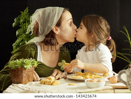Fun with dough - stock photo