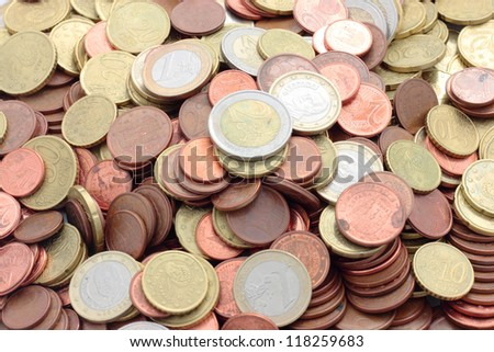 fund of euro coins and cents of the European Union