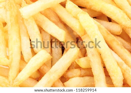 fund of golden crispy fries and tasty