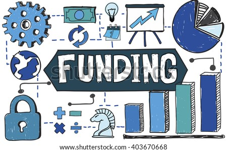Funding Growth Invest Data Financial Concept - stock photo