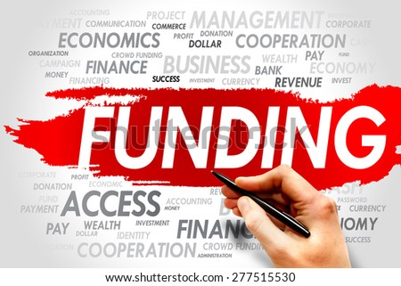 Funding word cloud, business concept - stock photo