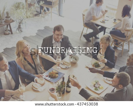 Fundraising Finance Donation Economy Concept - stock photo