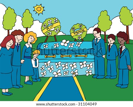 cartoon funeral people stock images  royalty free images halloween coffin clipart coffin images clip art