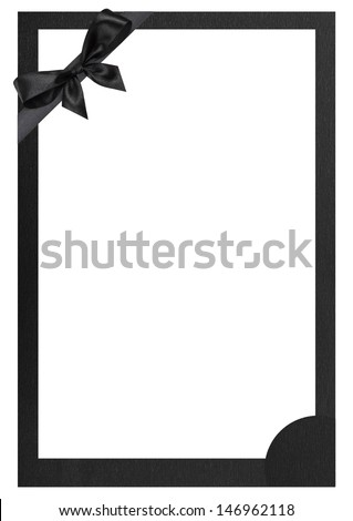 Funeral frame - stock photo