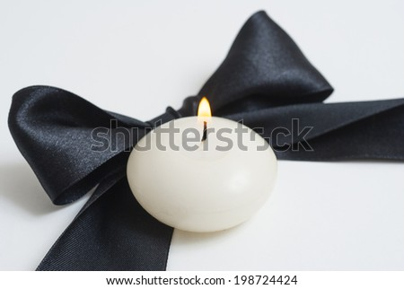 funeral notice  - stock photo