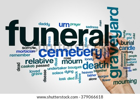 Funeral word cloud concept - stock photo