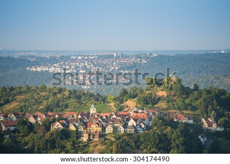 Funerary Chapel Rotenberg on a hill nearby Stuttgart - stock photo