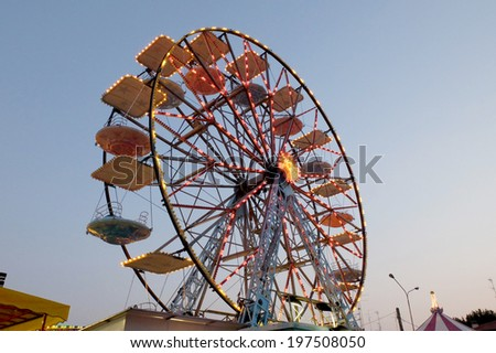 funfair carnival games for children and adults amusement park - stock photo