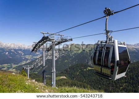 Funicular railway in the mountains