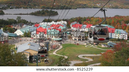 Funiculars over Mount Tremblant Resort
