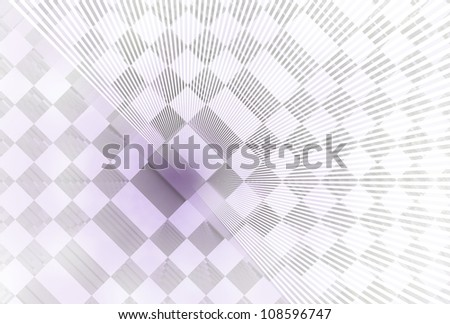 Funky amethyst and silver abstract checkered design on white background