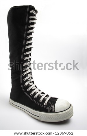 Funky boot, isolated