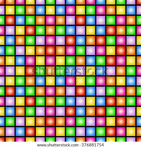 Funky colorful tileable 80s style wallpaper that repeats left, right, up and down  - stock photo