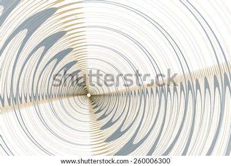 Funky orange / blue 'radar' ripple fan on white background - stock photo