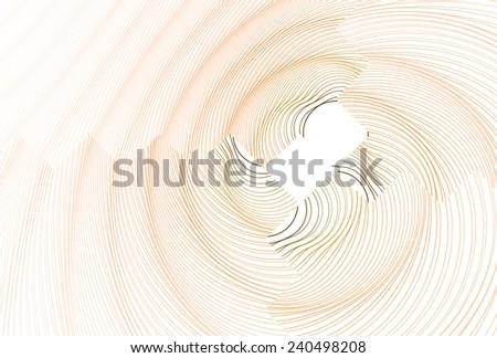 Funky orange / brown zig-zag ripple design on white background  - stock photo