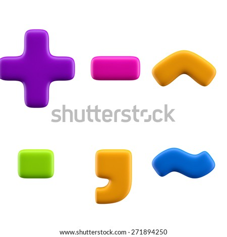 Funny alphabet character. Symbols. Isolated on white background. - stock photo