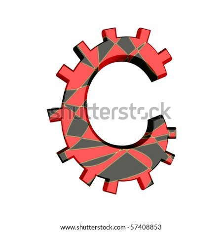 funny alphabet in red and black; joker-style - stock photo