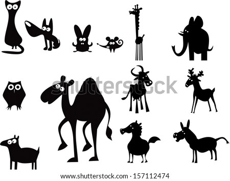 High Detail Vector Nativity Christmas Set Stock Vector