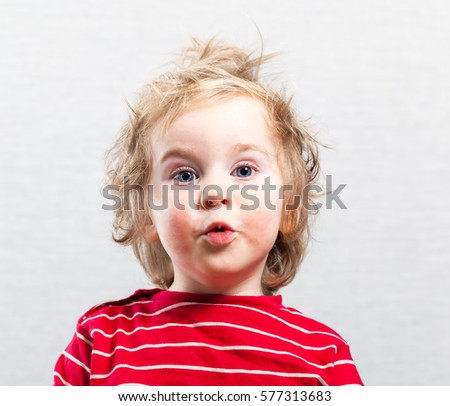 funny baby toddler blonde boy