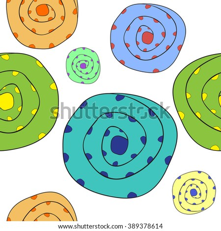 funny boulders pattern, abstract seamless texture, art illustration - stock photo