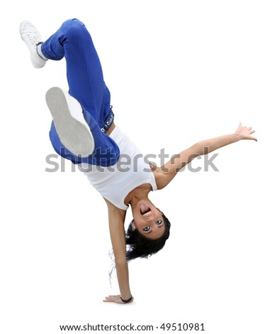 Funny Break-dancing Girl