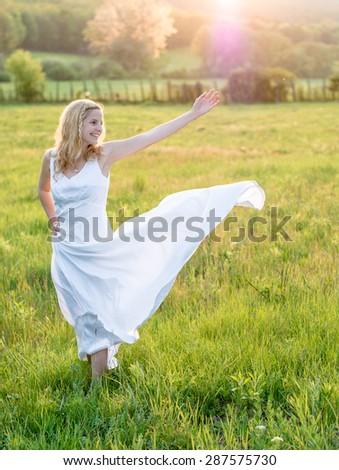 Funny bride - stock photo