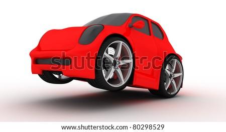 funny car prototype - stock photo