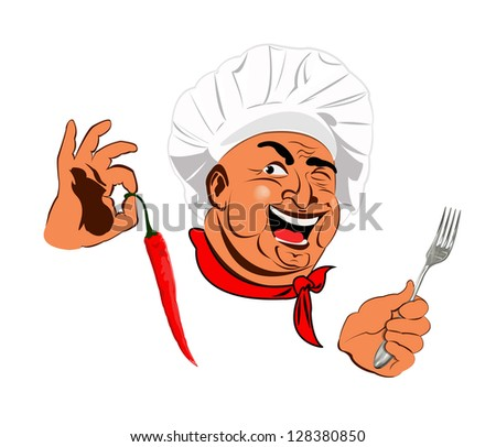 Funny Chef.Best food for gourmet