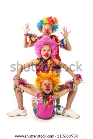 Funny clowns - stock photo