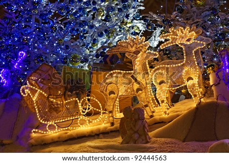 Funny decoration at Christmas time - stock photo