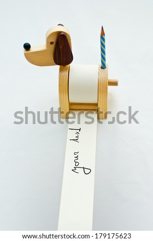 funny dog notepad with pencil