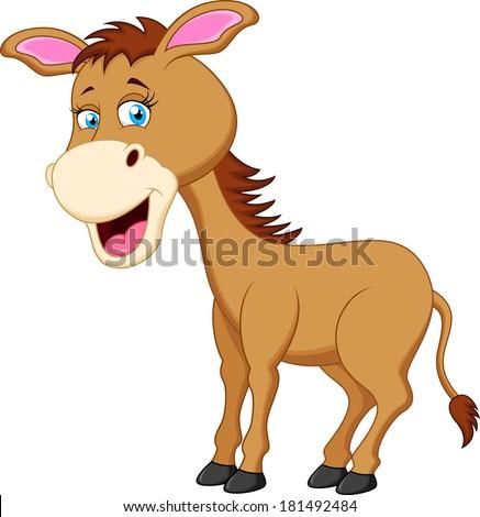 Funny donkey cartoon  - stock photo