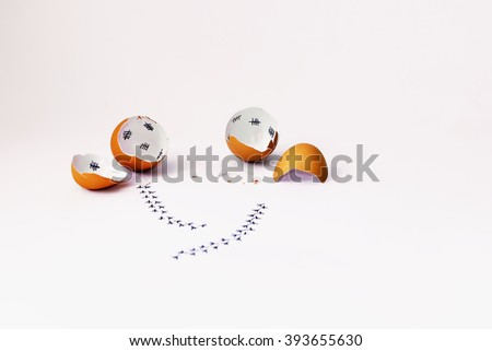 Funny Easter wishes - chicken countdown - stock photo