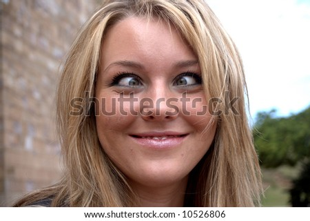 Funny Expression - stock photo