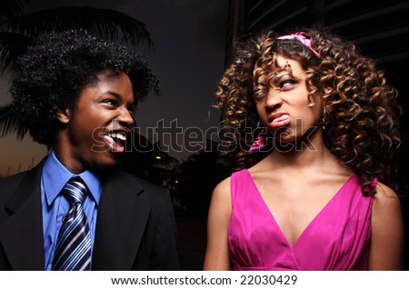 Funny faces - stock photo