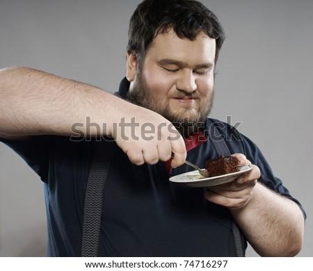 Funny Fat Man Unhealthy Peopl...