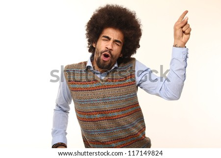 Funny funky man - stock photo