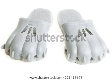 funny gray step-ins look like clutches - stock photo