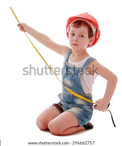 child hard hat sitting �����������������������������