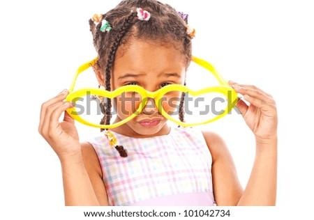 Funny little girl - stock photo
